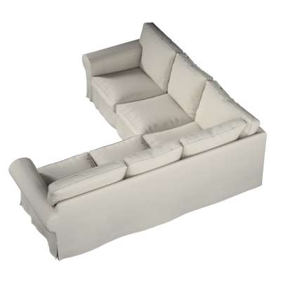 Pokrowiec na sofę narożną Ektorp w kolekcji Cotton Panama, tkanina: 702-31