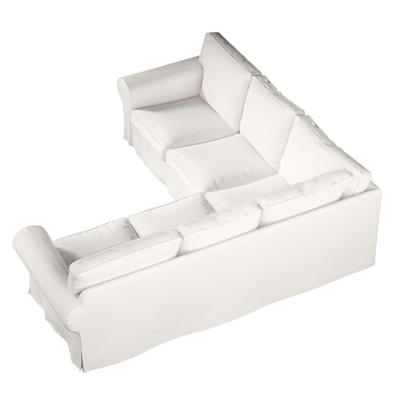 Pokrowiec na sofę narożną Ektorp w kolekcji Cotton Panama, tkanina: 702-34