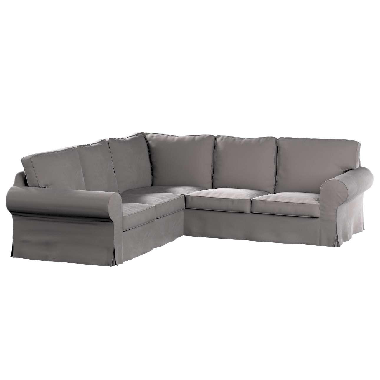 Pokrowiec na sofę narożną Ektorp w kolekcji Velvet, tkanina: 704-11