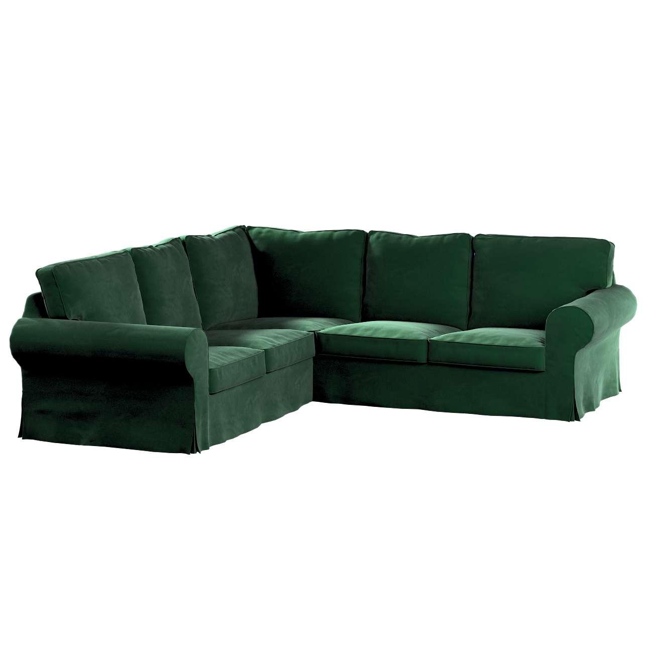 Pokrowiec na sofę narożną Ektorp w kolekcji Velvet, tkanina: 704-13