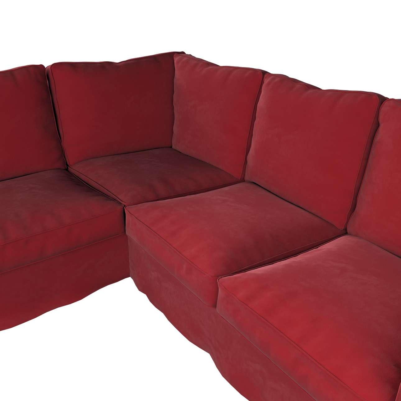 Pokrowiec na sofę narożną Ektorp w kolekcji Velvet, tkanina: 704-15