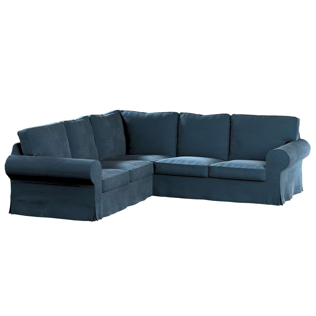Pokrowiec Ektorp na sofę narożną w kolekcji Velvet, tkanina: 704-16