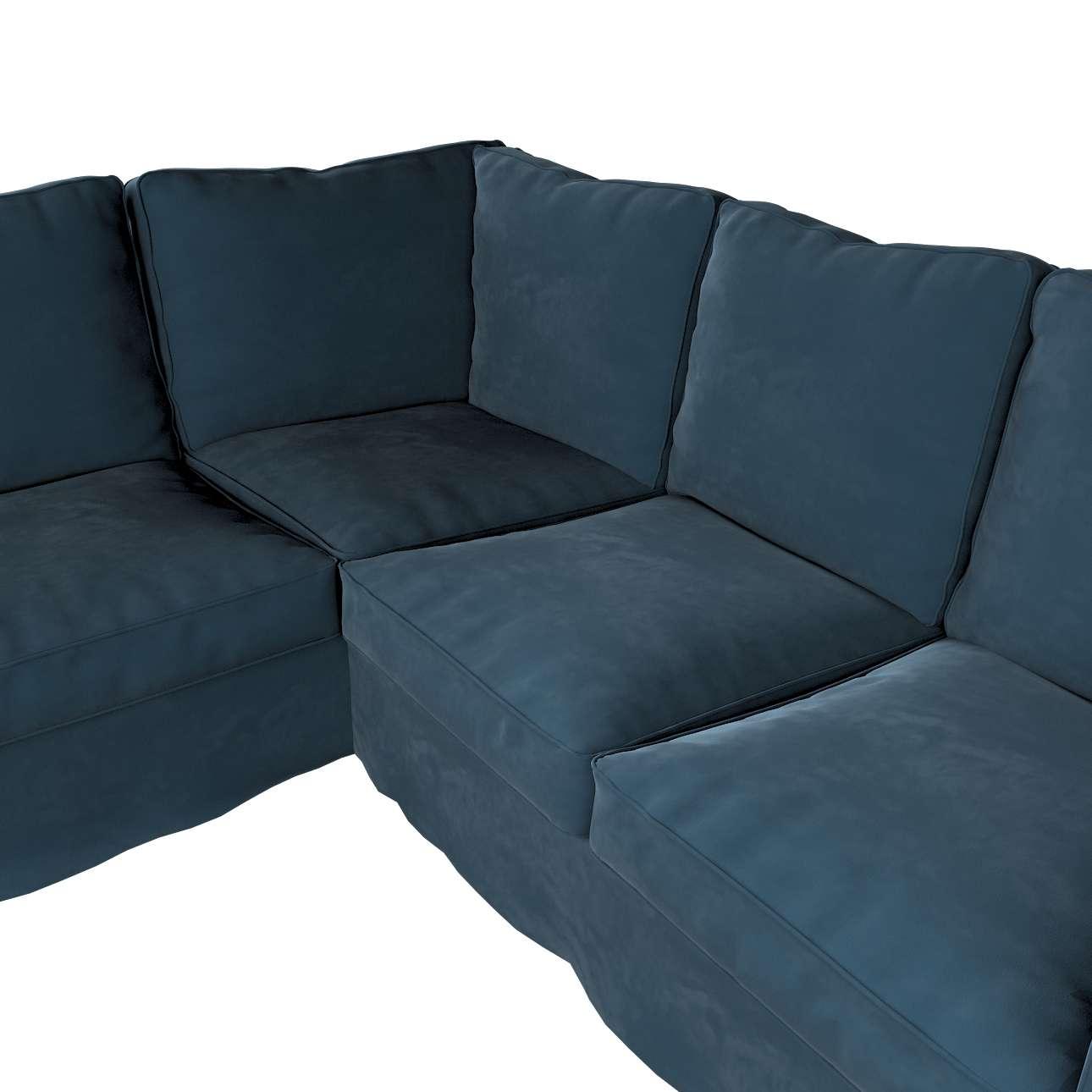 Pokrowiec na sofę narożną Ektorp w kolekcji Velvet, tkanina: 704-16