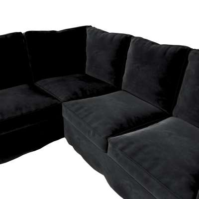 Pokrowiec na sofę narożną Ektorp w kolekcji Velvet, tkanina: 704-17