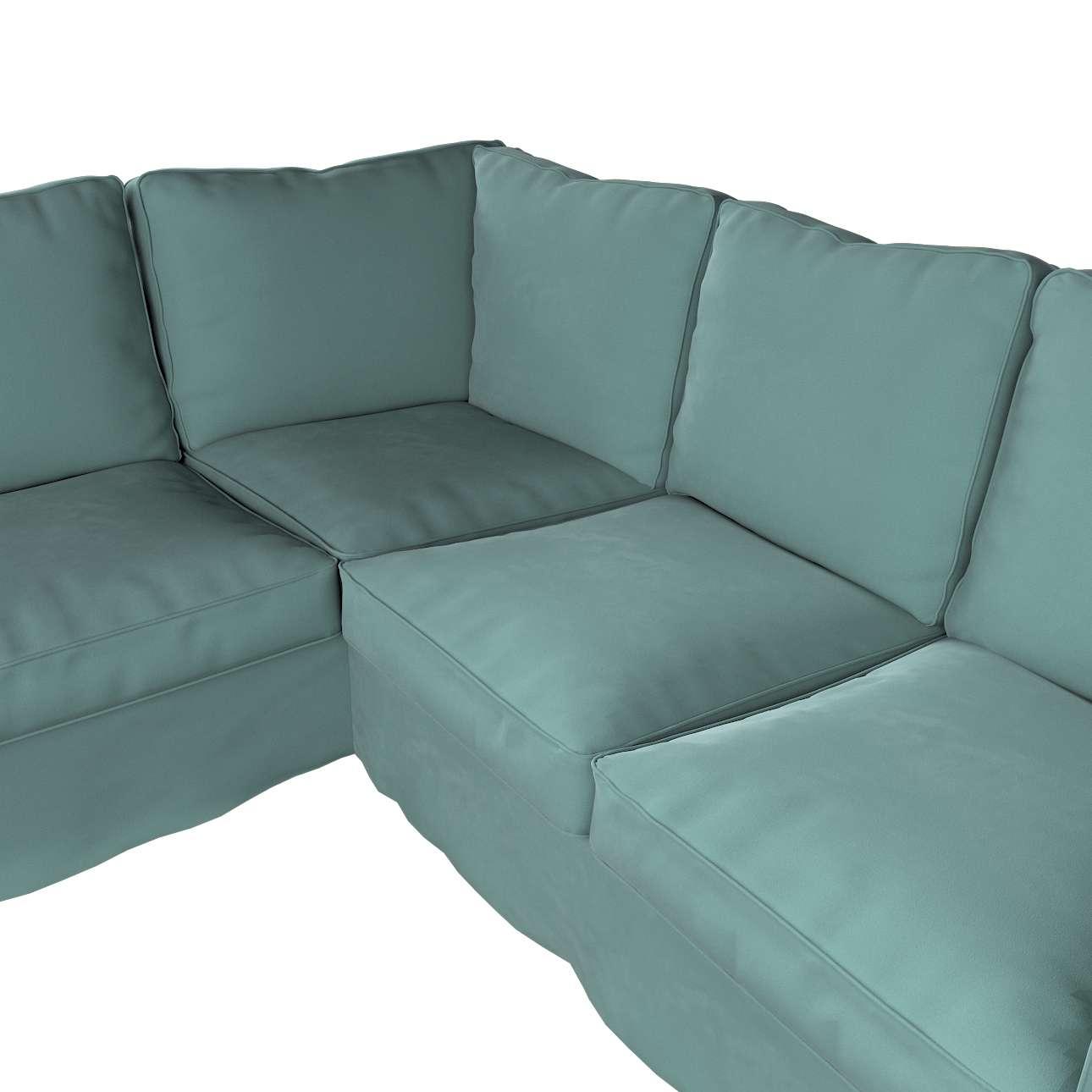Pokrowiec Ektorp na sofę narożną w kolekcji Velvet, tkanina: 704-18