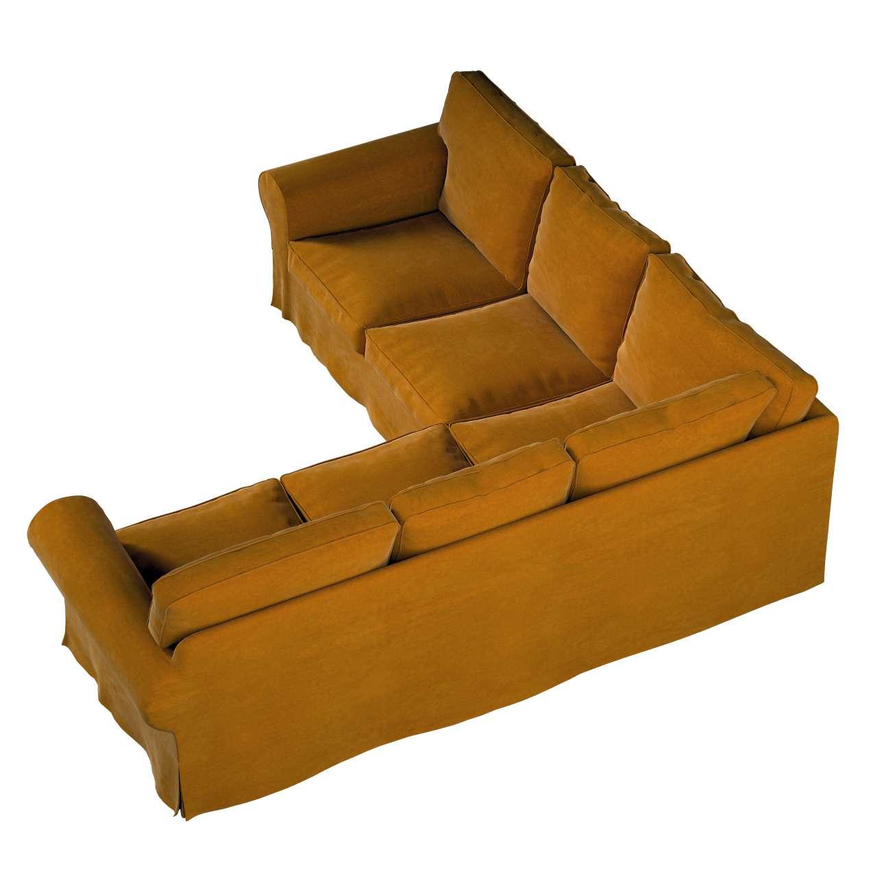 Pokrowiec na sofę narożną Ektorp w kolekcji Velvet, tkanina: 704-23