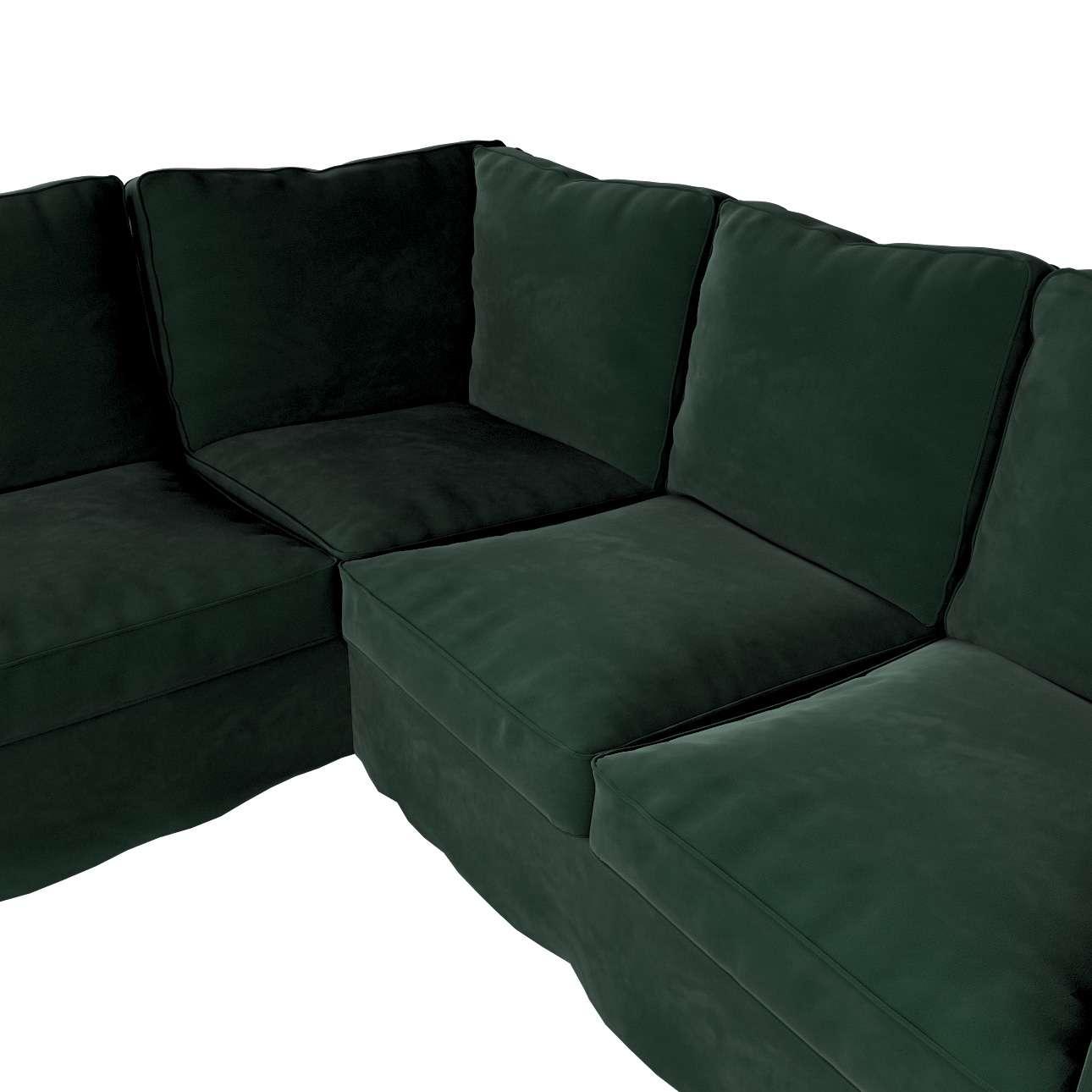 Pokrowiec na sofę narożną Ektorp w kolekcji Velvet, tkanina: 704-25
