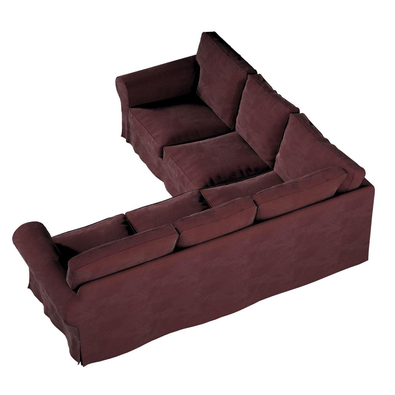 Pokrowiec Ektorp na sofę narożną w kolekcji Velvet, tkanina: 704-26
