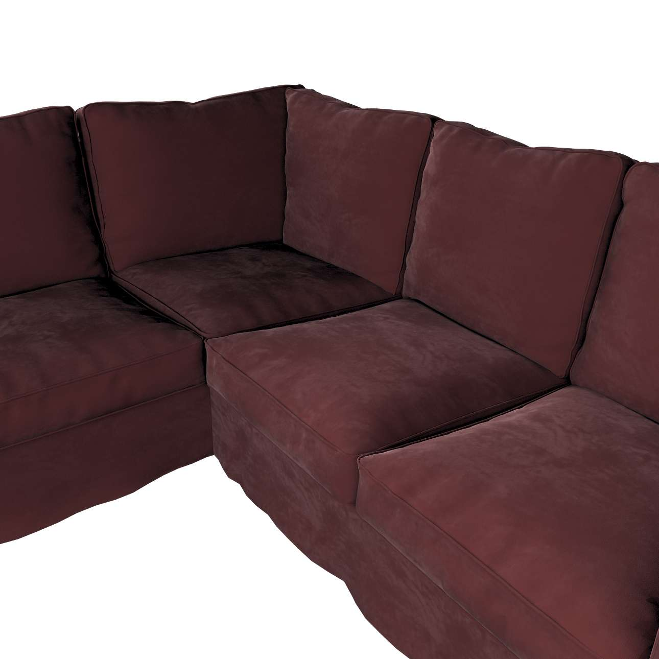 Pokrowiec na sofę narożną Ektorp w kolekcji Velvet, tkanina: 704-26