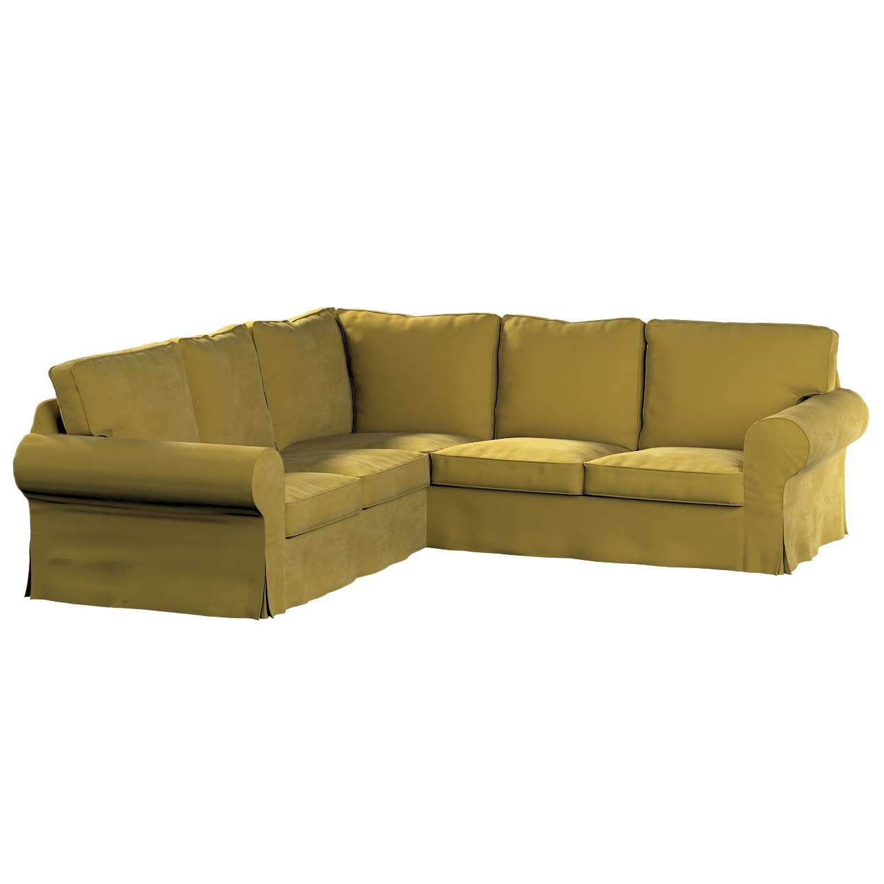 Pokrowiec Ektorp na sofę narożną w kolekcji Velvet, tkanina: 704-27