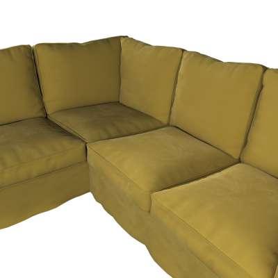 Pokrowiec na sofę narożną Ektorp w kolekcji Velvet, tkanina: 704-27