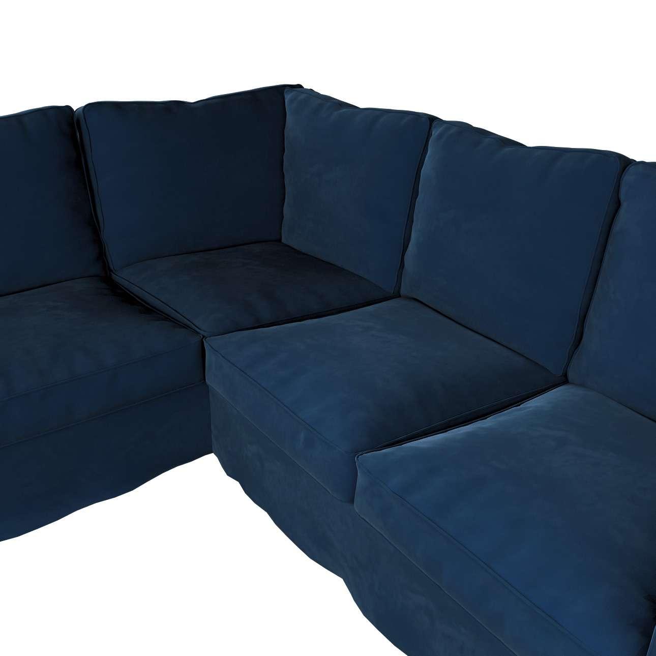 Pokrowiec na sofę narożną Ektorp w kolekcji Velvet, tkanina: 704-29