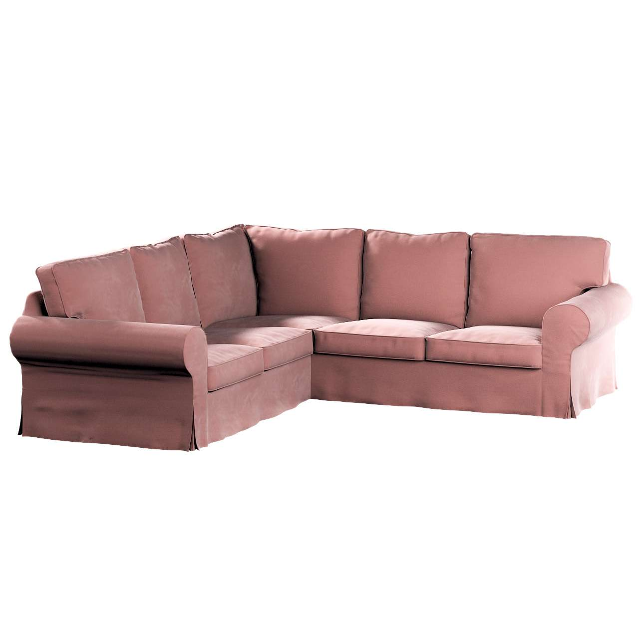 Pokrowiec Ektorp na sofę narożną w kolekcji Velvet, tkanina: 704-30