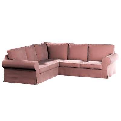 Pokrowiec na sofę narożną Ektorp w kolekcji Velvet, tkanina: 704-30