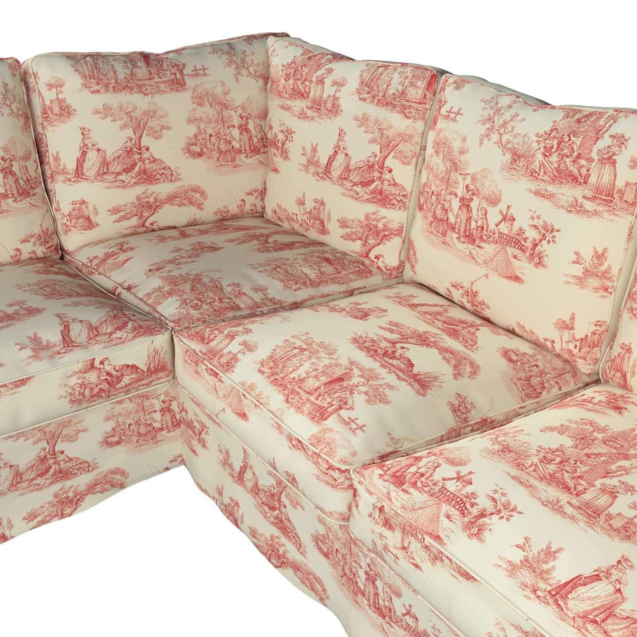 Pokrowiec na sofę narożną Ektorp w kolekcji Avinon, tkanina: 132-15