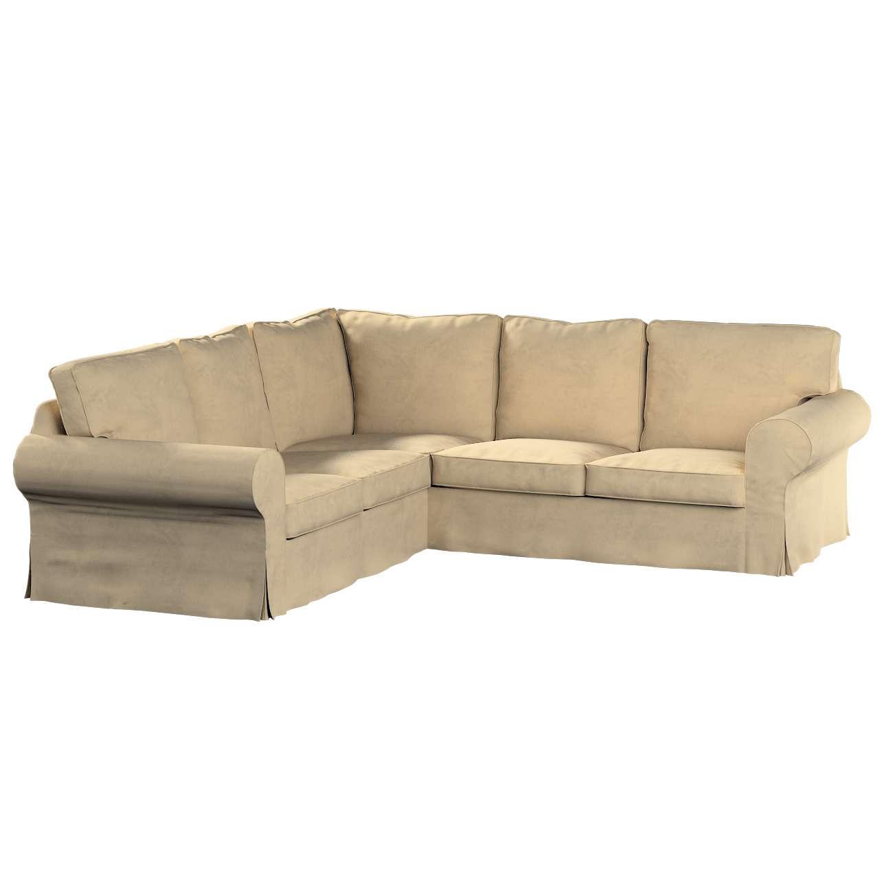 Pokrowiec na sofę narożną Ektorp w kolekcji Living II, tkanina: 160-82