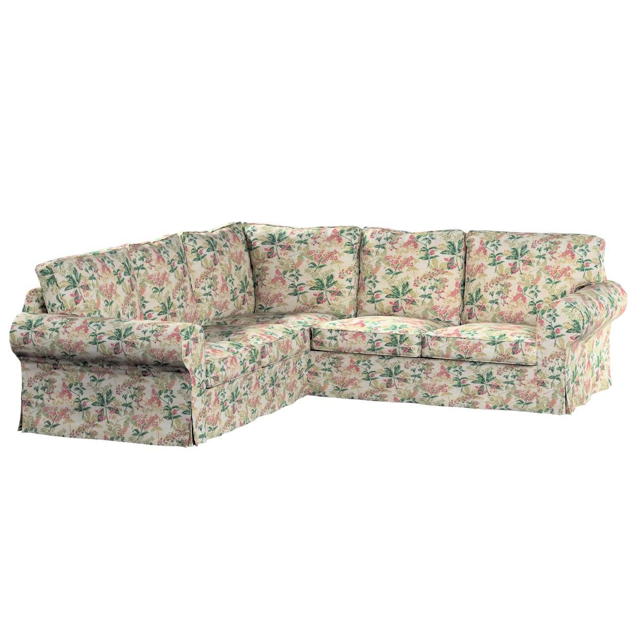 Pokrowiec na sofę narożną Ektorp w kolekcji Londres, tkanina: 143-41