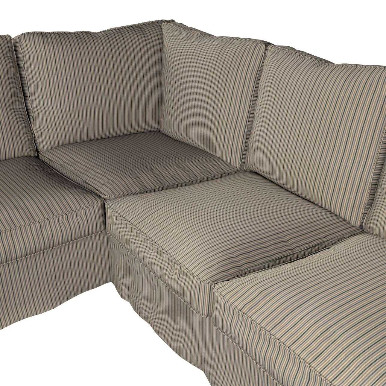 Pokrowiec na sofę narożną Ektorp w kolekcji Londres, tkanina: 143-38