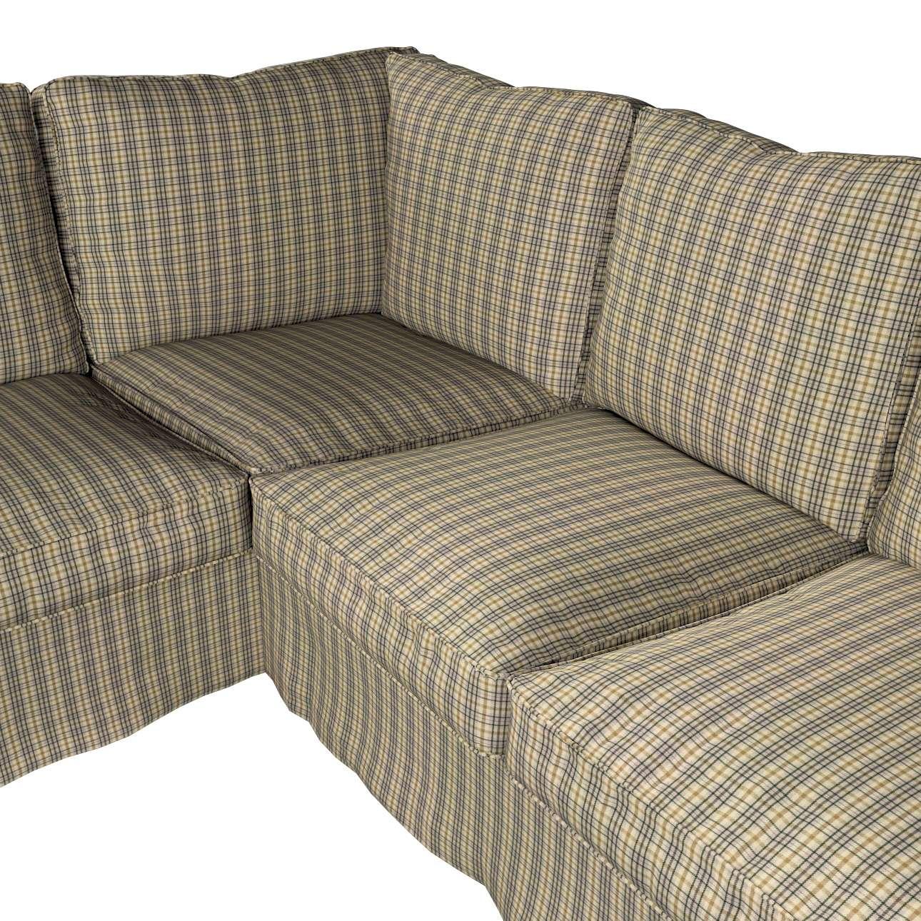 Pokrowiec Ektorp na sofę narożną w kolekcji Londres, tkanina: 143-39