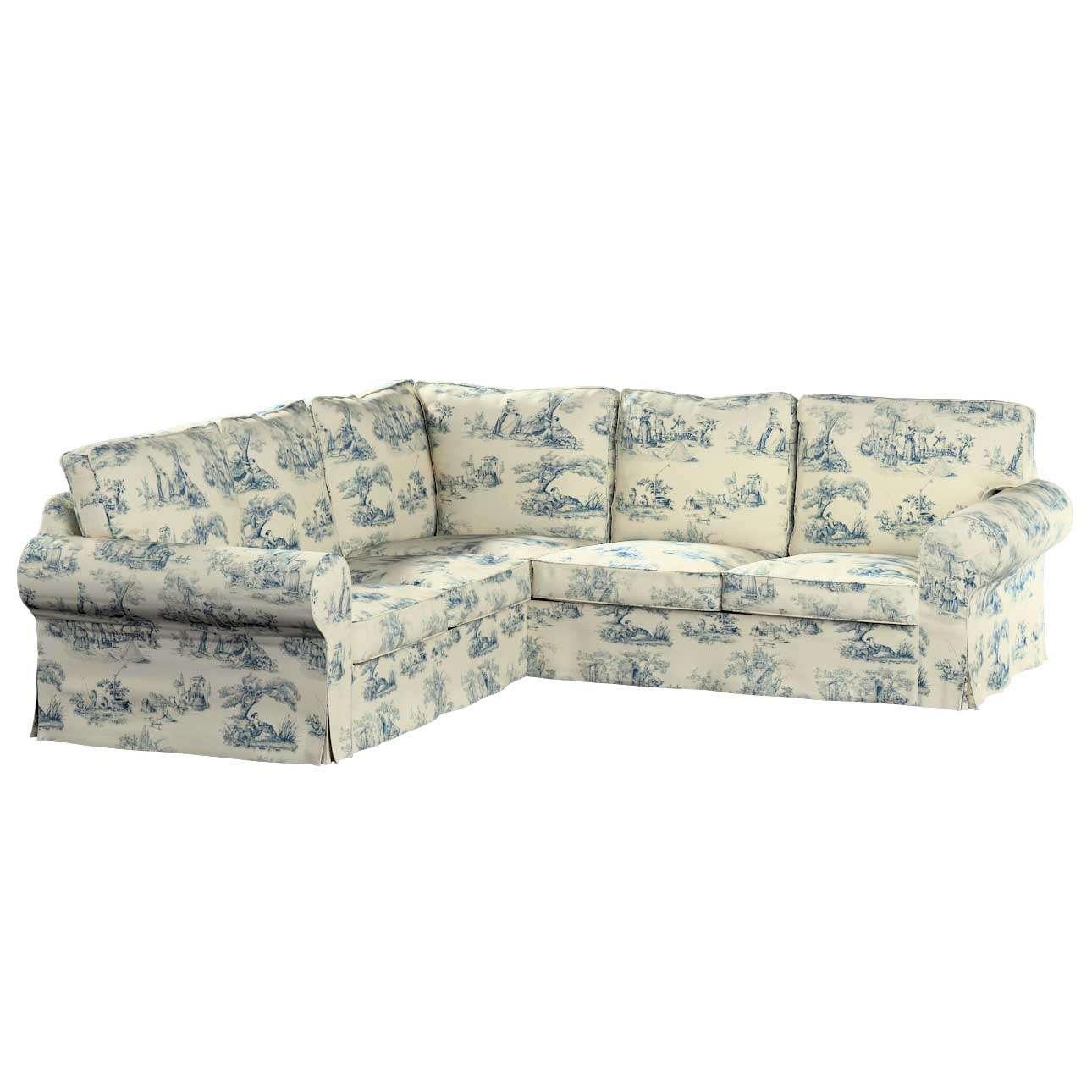 Pokrowiec na sofę narożną Ektorp w kolekcji Avinon, tkanina: 132-66