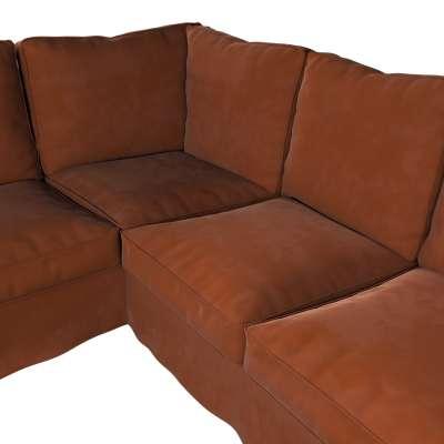 Pokrowiec na sofę narożną Ektorp w kolekcji Velvet, tkanina: 704-33