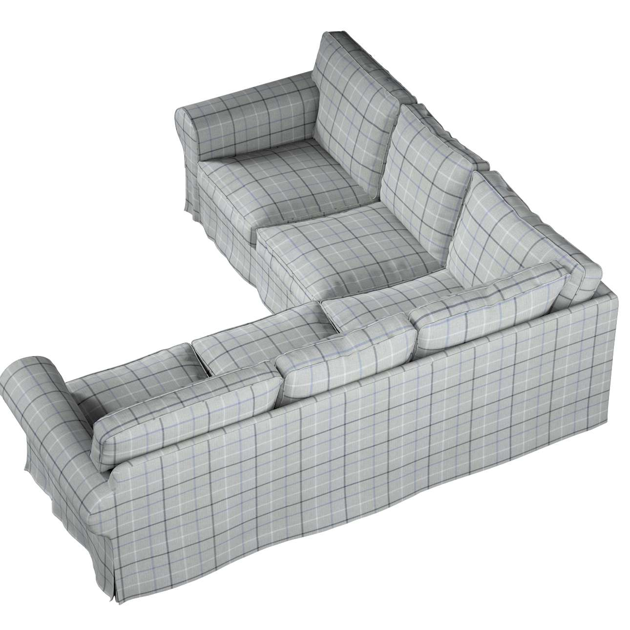 Pokrowiec Ektorp na sofę narożną w kolekcji Edinburgh, tkanina: 703-18