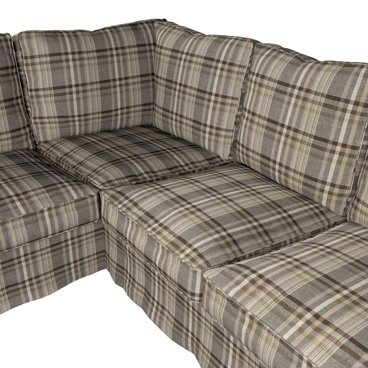 Pokrowiec Ektorp na sofę narożną w kolekcji Edinburgh, tkanina: 703-17