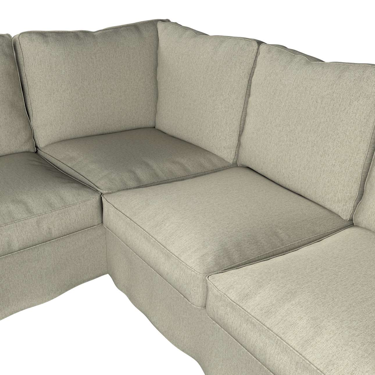 Pokrowiec na sofę narożną Ektorp w kolekcji Living, tkanina: 161-62