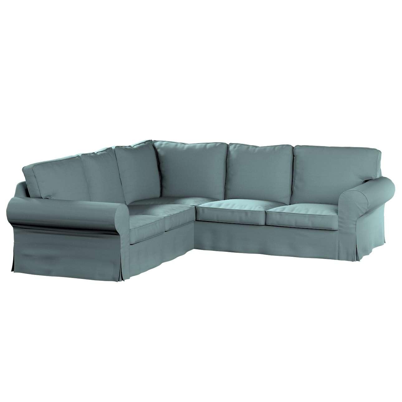 Pokrowiec na sofę narożną Ektorp w kolekcji Cotton Panama, tkanina: 702-40