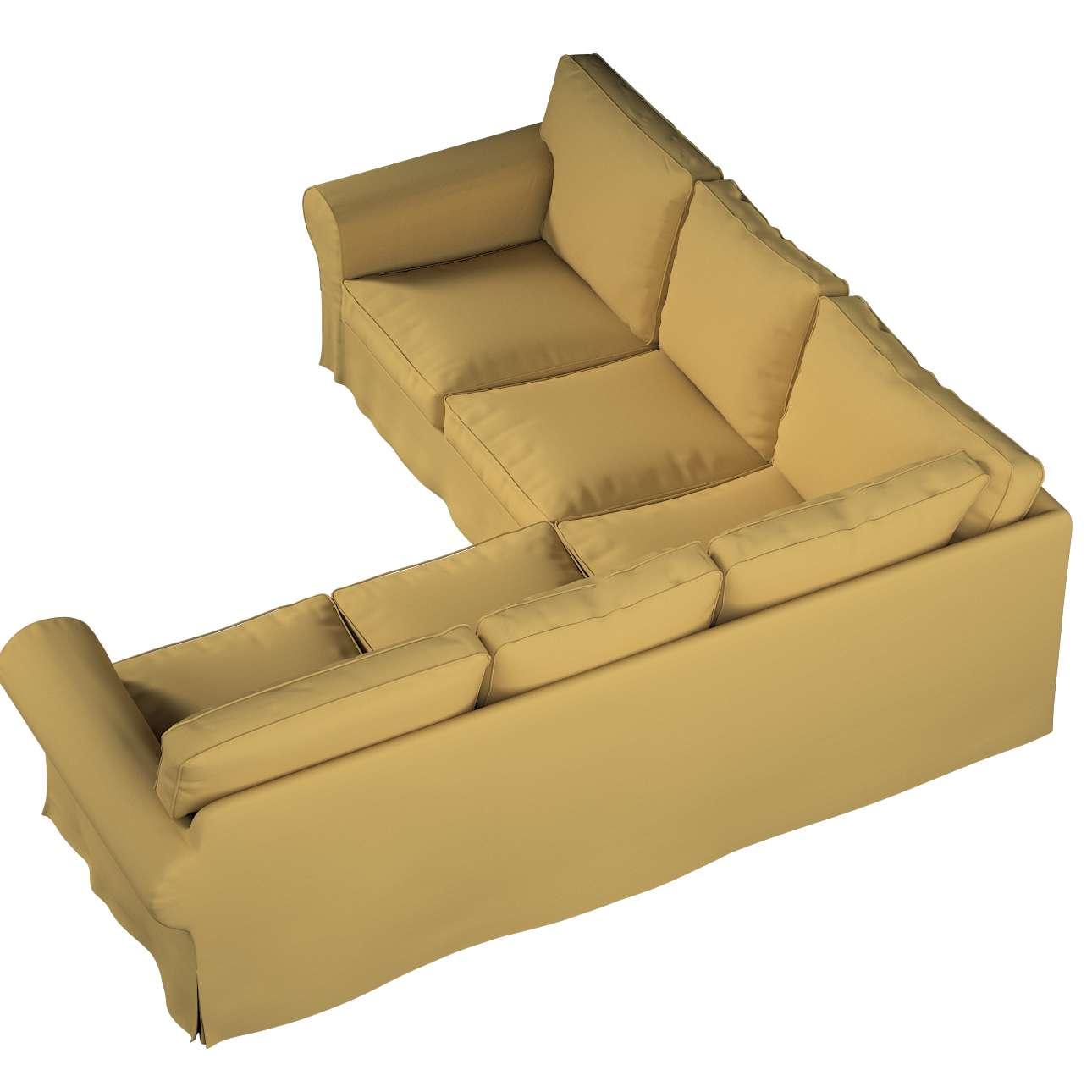 Pokrowiec na sofę narożną Ektorp w kolekcji Cotton Panama, tkanina: 702-41
