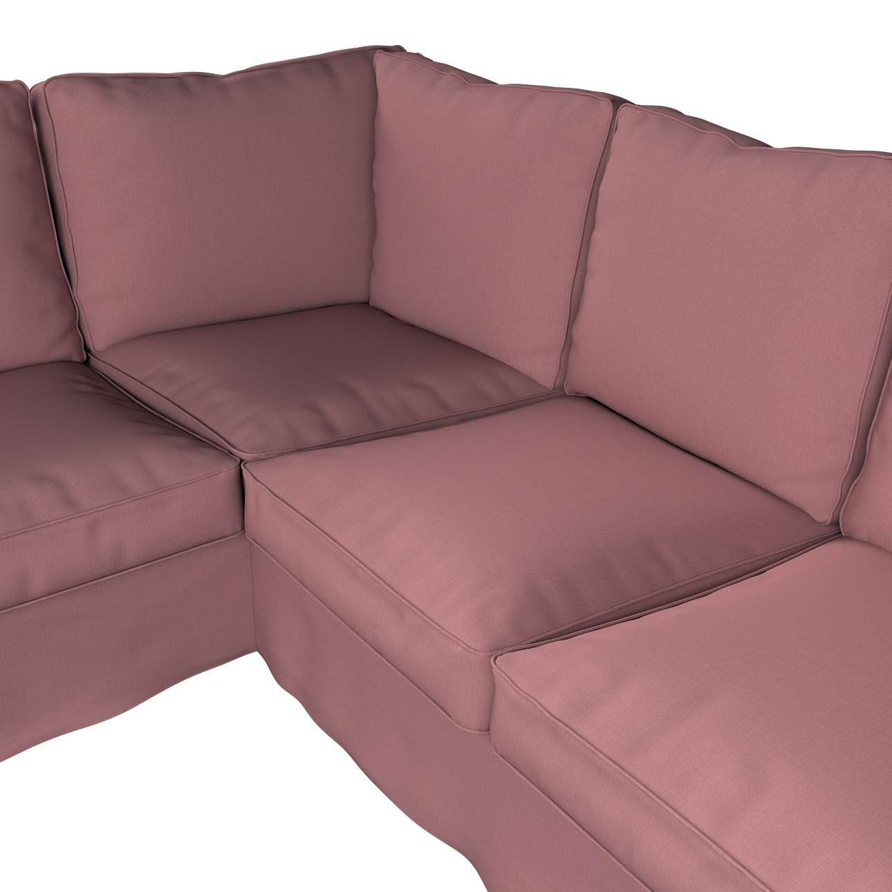 Pokrowiec na sofę narożną Ektorp w kolekcji Cotton Panama, tkanina: 702-43