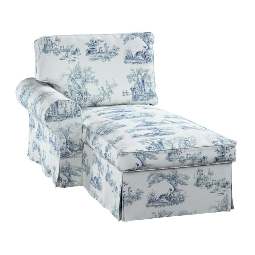 ektorp bezug f r r camiere links creme blau ektorp. Black Bedroom Furniture Sets. Home Design Ideas
