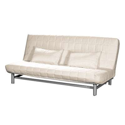 Tikattu päällinen vuodesohvaan kahdella tikatulla tyynynpäällisellä IKEA