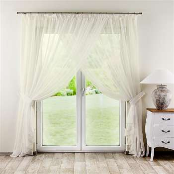 Amelia pleated net curtain with tie backs - 2 pcs.