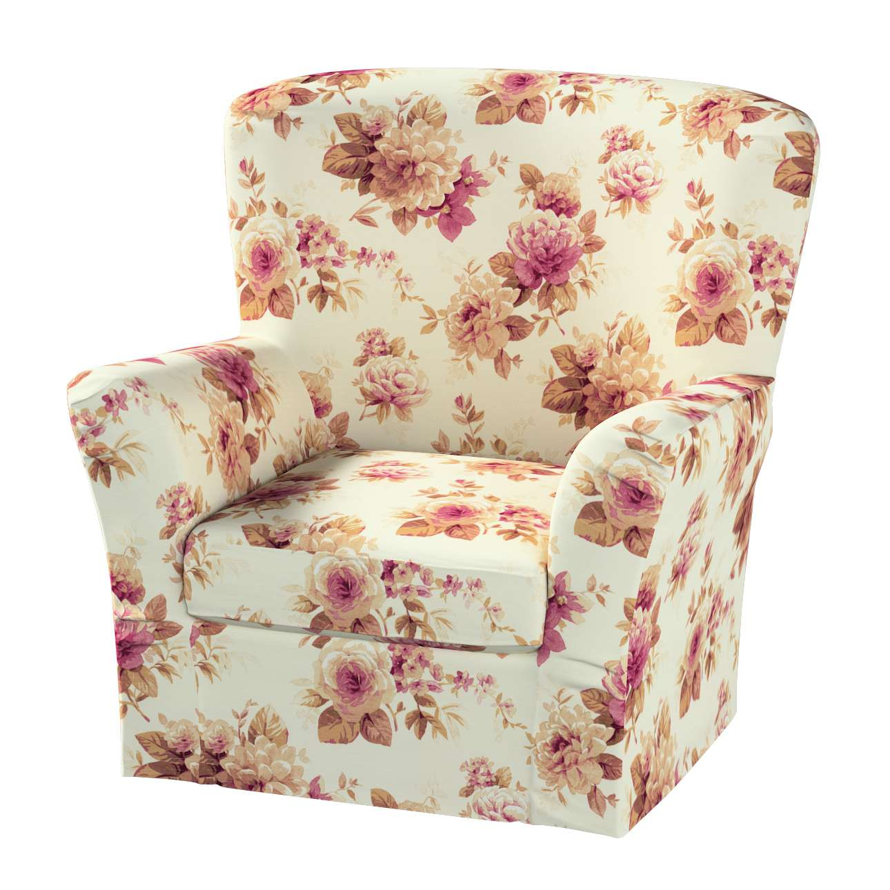 Pokrowiec na fotel Tomelilla z zakładkami fotel Tomelilla w kolekcji Mirella, tkanina: 141-06