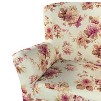 Pokrowiec na fotel Tomelilla z zakładkami w kolekcji Mirella, tkanina: 141-06