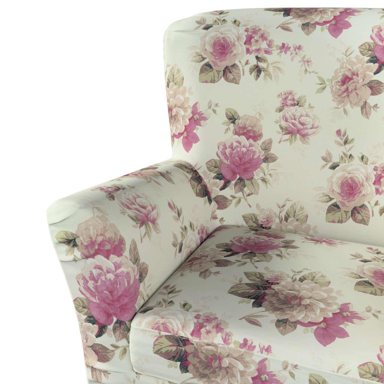Pokrowiec na fotel Tomelilla z zakładkami w kolekcji Londres, tkanina: 141-07