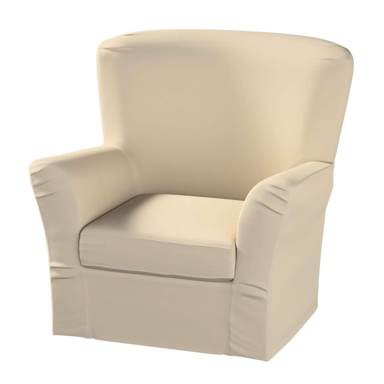 Pokrowiec na fotel Tomelilla z zakładkami fotel Tomelilla w kolekcji Cotton Panama, tkanina: 702-01