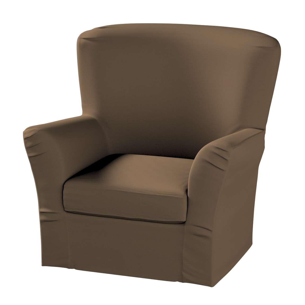 Pokrowiec na fotel Tomelilla z zakładkami fotel Tomelilla w kolekcji Cotton Panama, tkanina: 702-02