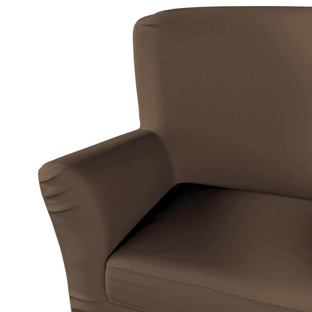 Pokrowiec na fotel Tomelilla z zakładkami w kolekcji Cotton Panama, tkanina: 702-02