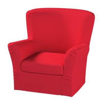 Pokrowiec na fotel Tomelilla z zakładkami w kolekcji Cotton Panama, tkanina: 702-04