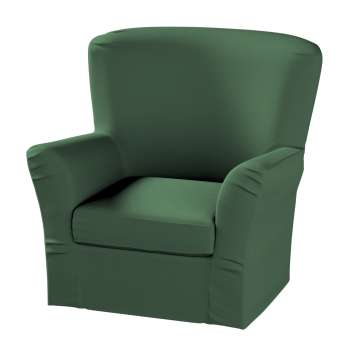 Pokrowiec na fotel Tomelilla z zakładkami w kolekcji Cotton Panama, tkanina: 702-06