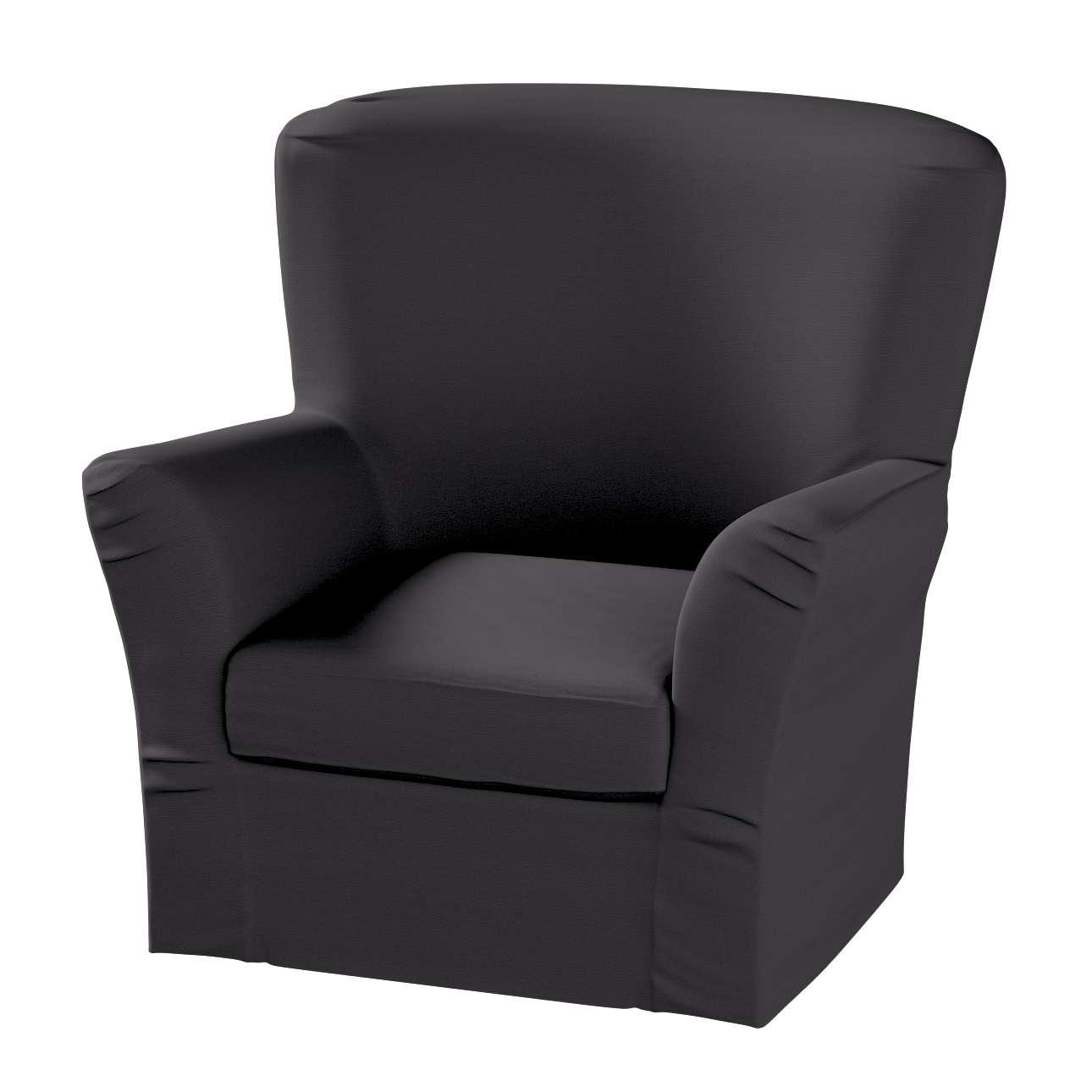 Pokrowiec na fotel Tomelilla z zakładkami w kolekcji Cotton Panama, tkanina: 702-08