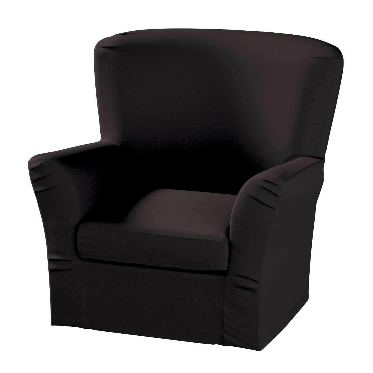 Pokrowiec na fotel Tomelilla z zakładkami w kolekcji Cotton Panama, tkanina: 702-09