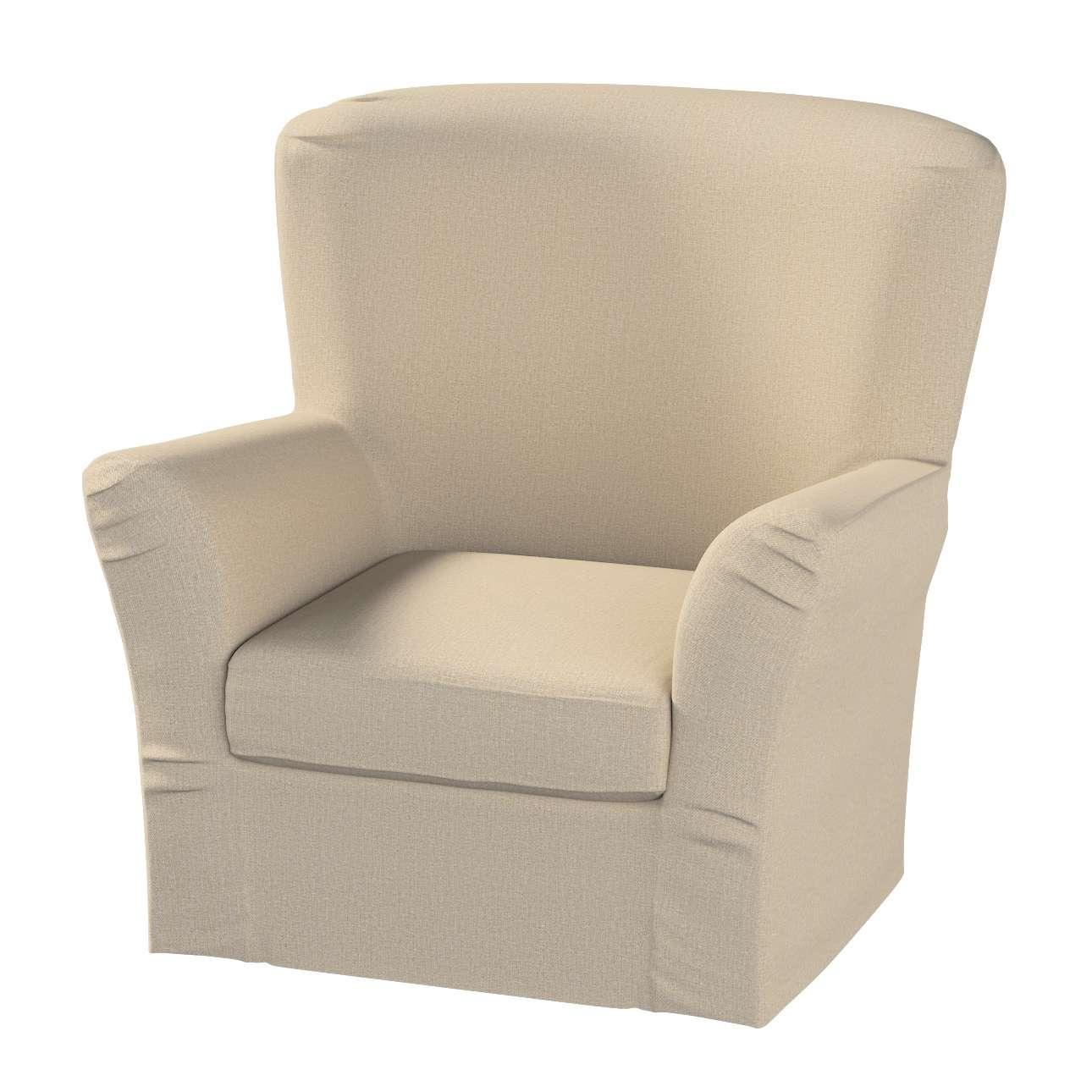 Pokrowiec na fotel Tomelilla z zakładkami fotel Tomelilla w kolekcji Edinburgh, tkanina: 115-78