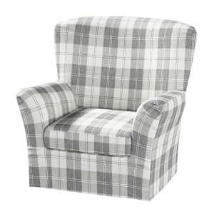 Pokrowiec na fotel Tomelilla z zakładkami fotel Tomelilla w kolekcji Edinburgh, tkanina: 115-79