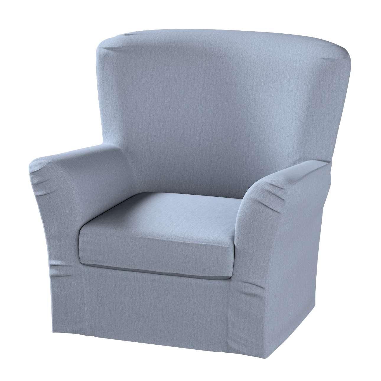 Pokrowiec na fotel Tomelilla z zakładkami fotel Tomelilla w kolekcji Chenille, tkanina: 702-13