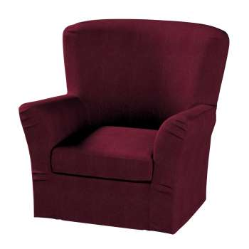 Pokrowiec na fotel Tomelilla z zakładkami fotel Tomelilla w kolekcji Chenille, tkanina: 702-19