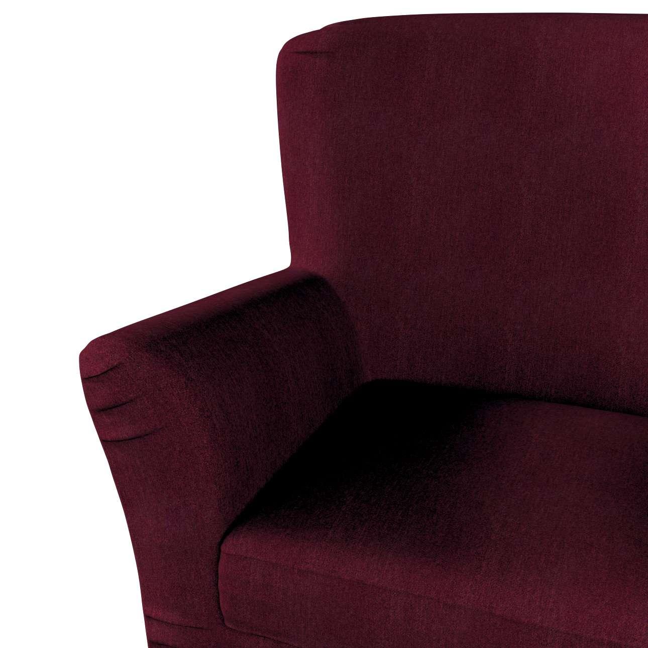 Pokrowiec na fotel Tomelilla z zakładkami w kolekcji Chenille, tkanina: 702-19