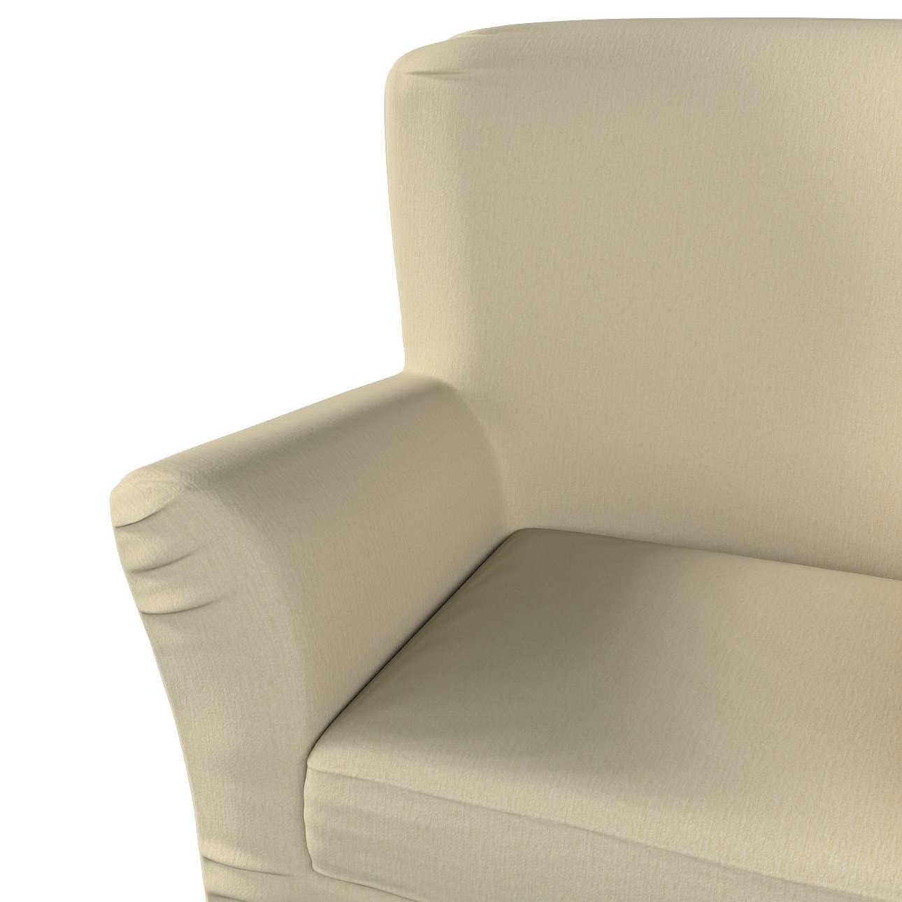 Pokrowiec na fotel Tomelilla z zakładkami w kolekcji Chenille, tkanina: 702-22